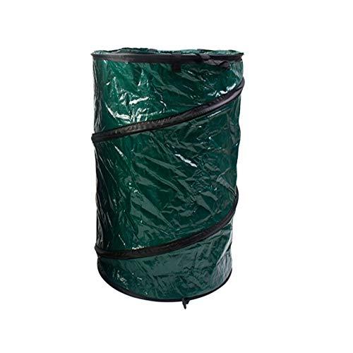 AUSWIEI Garden Garbage Bag Large Waterproof Heavy Garbage Bag Can Be Reused Foldable Courtyard Bin Color  Nylon