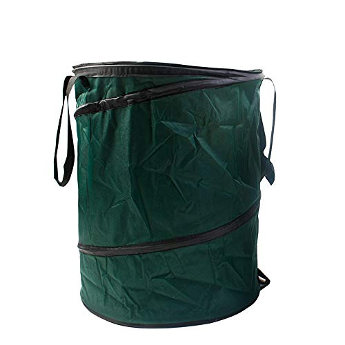 Garden Waste Bags Garden Garbage Bag Large Waterproof Heavy Garbage Bag Can Be Reused Foldable Courtyard Bin Pool Garden Leaf Garbage Bag Color  Nylon