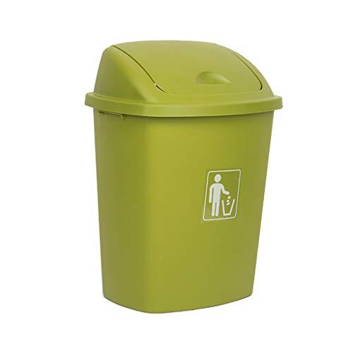 LXF Outdoor Waste Bins Swing Box Home Garden Kitchen Garbage Recycling Plastic Trash Black Wheelie bin Color  A Size  40L