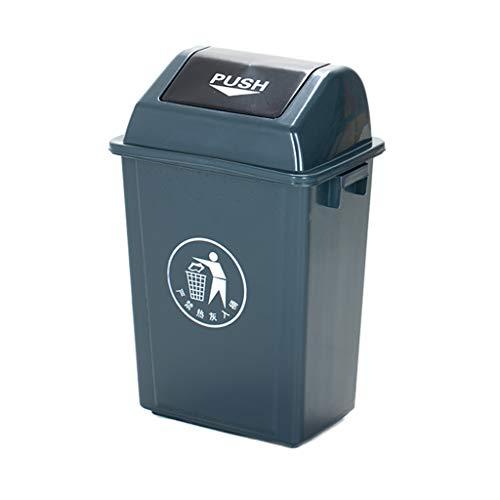 LXF Outdoor Waste Bins Swing Box Home Garden Kitchen Garbage Recycling Plastic Trash Black Wheelie bin Color  Gray