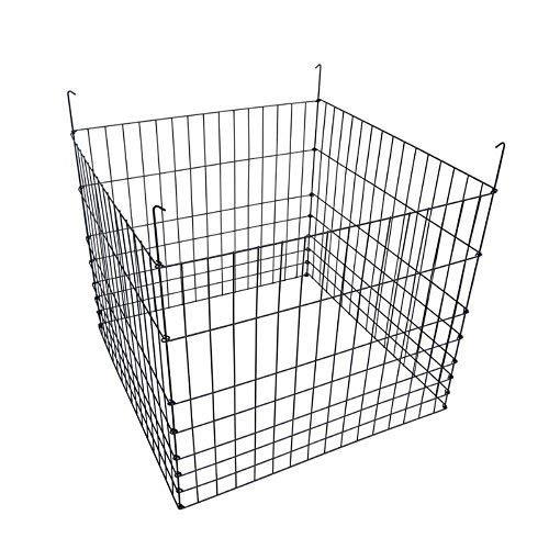 MTB Garden Wire Compost Bin 36x36x30 inches Black Garden Bed Fencing