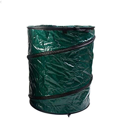 Techecho Lawn Pool Garden Leaf Waste Bag Garden Garbage Bag Large Waterproof Heavy Garbage Bag Can Be Reused Foldable Courtyard Bin Reusable Color  Oxford