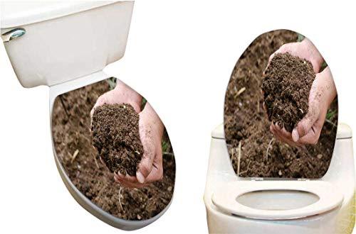 SeptSonne Vinyl Decal rtoilet lid Compost Soil organicfertilizer on for platation Stickers Creative Toilet Stickers 13x13