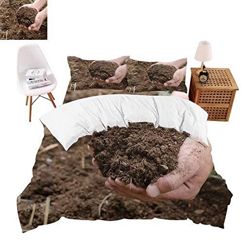 shirlyhome Bed Sheet Set Super Soft Polyester Compost Soil organicfertilizer on for platation Wrinkle Resistance Full
