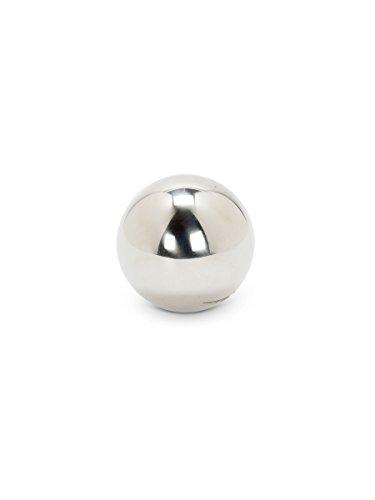 Abbott Collection Small Silver Garden Gazing Ball