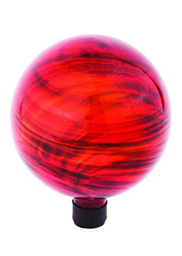 Russco III GD137180 Glass Gazing Ball 10 Red Swirl