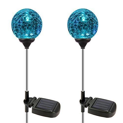 Esky Sl75 Crystal Glass Globe Color Changing Led Solar Lights Christmas Light Decoration Garden Decor For Indoor