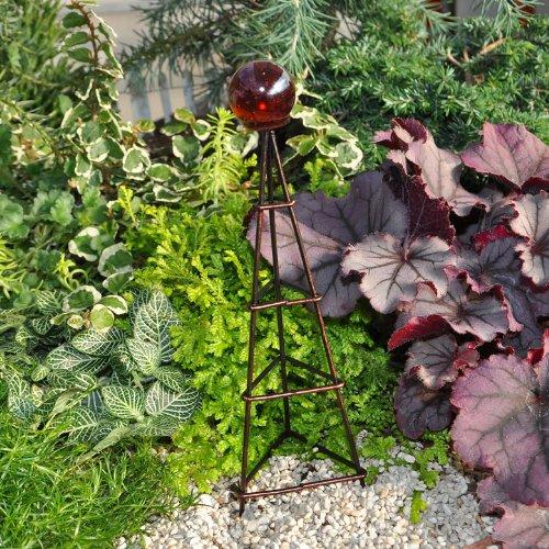 Miniature Fairy Garden Globe on a Trellis Color Options Red