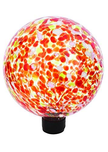 Russco III GD137142 Glass Gazing Ball 10 Red Spots