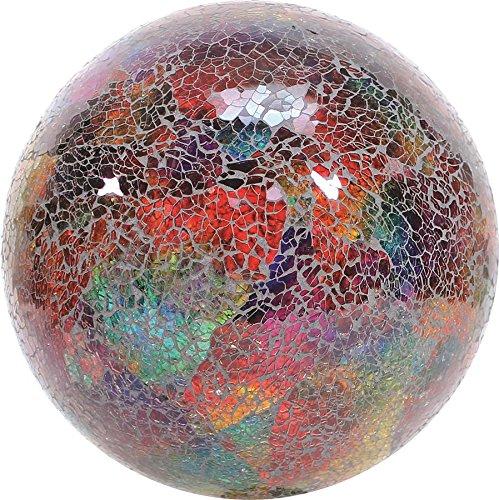 Vcs Glmtlf10 Mosaic Glass Gazing Ball Turquoiselimefuchsia 10-inch