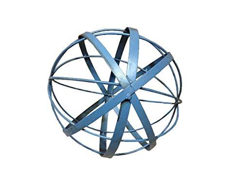 12&quot Blue Metal Gazing Ball