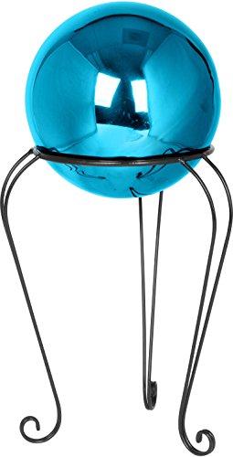 12&quot Metal Gazing Ball Standamp 8&quot Gazing Ball blue By Trademark Innovations