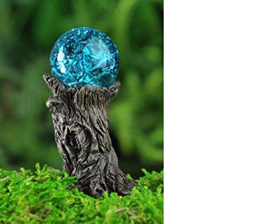 Fiddlehead Blue Crystal Gazing Ball 17279 Fairy Garden