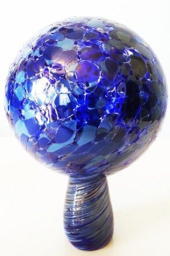 Gazing Ball Garden Ball of Mouth Blown Glass in Blue Light Blue Shades Diameter Approx 9 Cm Oberstdorfer Glashütte