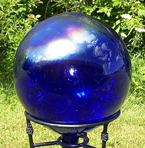 Glass Gazing Ballquotcobalt Blue&quot 12 Inch By Iron Art Glass Designs