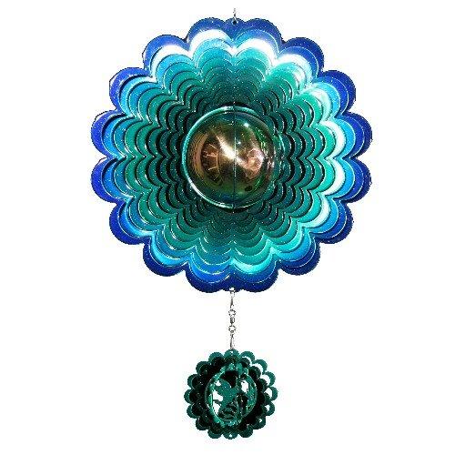 Next Innovations Hummingbird Gazing Ball Blue And Green