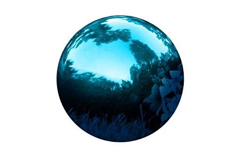 Trademark Innovations Stainless Steel Gazing Mirror Ball 8-inch Blue