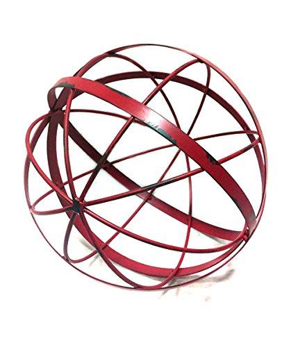 12&quot Red Metal Gazing Ball