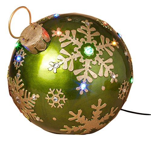 1625 Giant Green Gold Christmas Lights Ornament Gems Yard Lawn Decoration