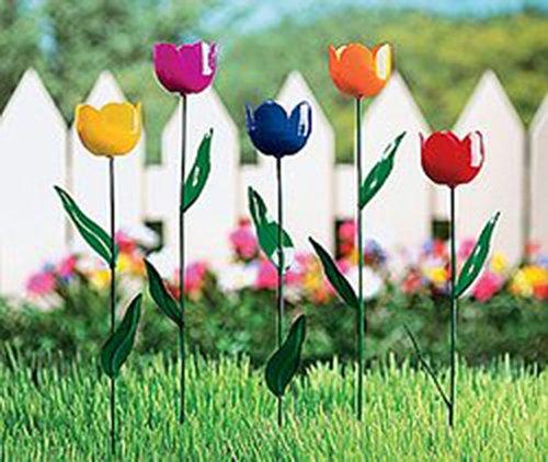 Tulip Lawn Garden Plant Stake Yard Ornaments Flower Art