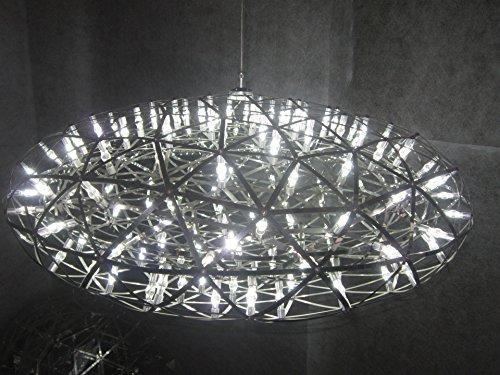 HYY Modern pendant lamp modern chandelier LED oval chandelier chandelier Fireworks Raymond stainless steel ball chandelier