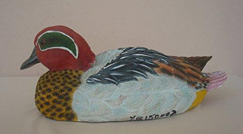 9 Duck Sculptureweather Resistant Hand-painted Polyresign Mallard Drake Sculpture - Lawn or Yard Statue