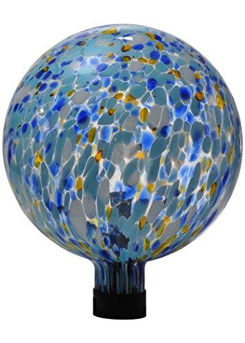 Russco III GD137111 Glass Gazing Ball 10 Blue Spots
