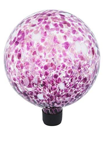 Russco Iii Gd137135 Glass Gazing Ball 10&quot Purple Spots