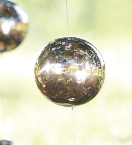 Hanging Gazing Ball Silver Chain Garden Accent