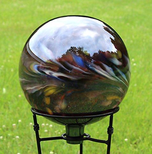 Glass Gazing Ballquotcircus Amethyst&quot 12 Inch By Iron Art Glass Designs