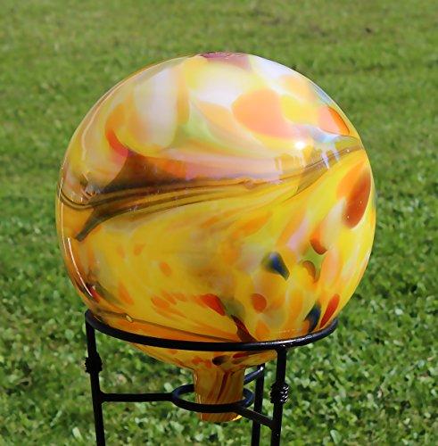 Glass Gazing Ballquotover Opal Yellowquot 12 Inch By Iron Art Glass Designs