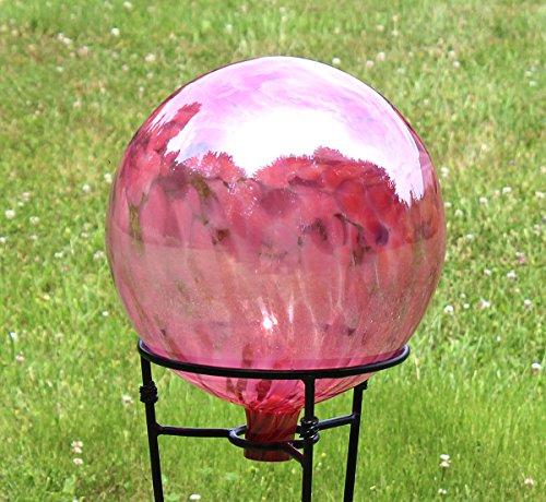 Glass Gazing Ballquottea Rose&quot 12 Inch By Iron Art Glass Designs