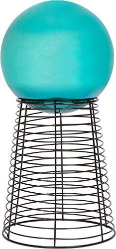 "12"" Metal Gazing Ball Stand & 10"" Gazing Ball (blue) By Trademark Innovations"