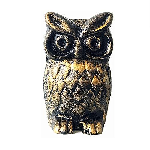 QERNTPEY-Outdoor Garden Ornaments European Mini Vintage Cast Iron Owl Decoration Small Metal Creative Garden Ornaments Art Iron Sculpture Art Décor Color  C1 Size  95x55x6cm
