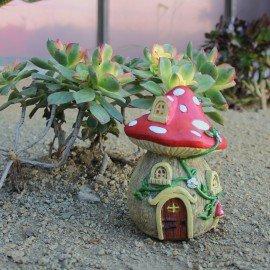 Fairy Garden Miniature Mushroom House Statute