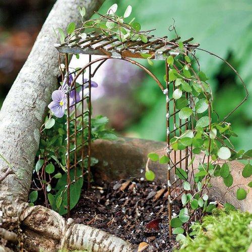 Miniature Fairy Garden Trellis Arbor