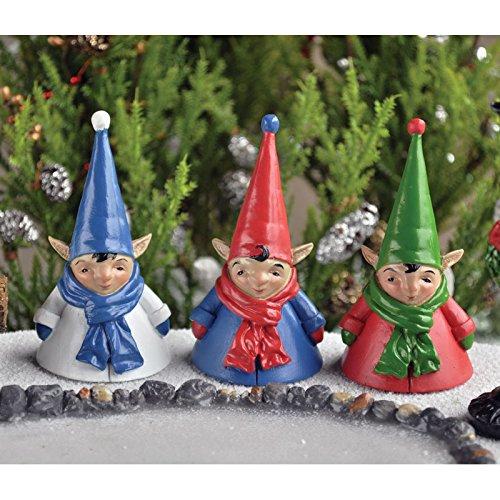 Fiddle Head Fairy Miniature Garden Xmas Elves 325 Tall Set of 3