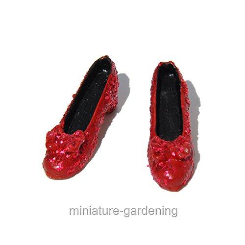 Miniature Fairy Garden Tiny Ruby Slippers