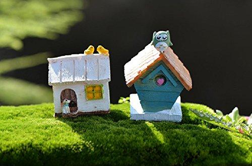 SUN-E 2 In Set Moss fairy Miniature Fairy Garden animal House Statue Home Decoration Outdoor Decor