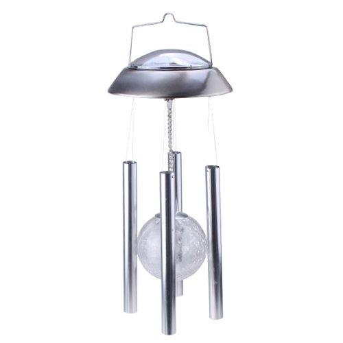 Agptek&reg Diy Sunergy Solar Powered Color Changing Crackle Globe Glass Ball Wind Chime