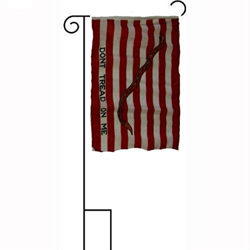 12x18 12x18 First Navy Jack Gadsden Sleeved w Garden Stand Flag