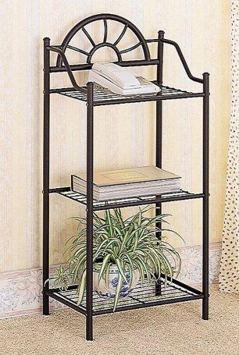 Coaster Garden Plant  Phone Stand Corner Table Black Wrought Iron
