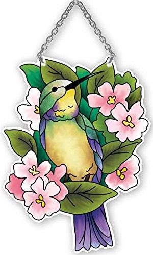 Hummingbird Lilies Stained Glass Suncatcher SSD1006R