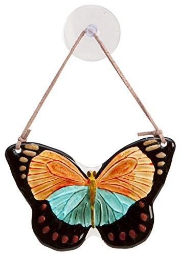 Cr Gibson Eden Hand Painted Glass Butterfly Suncatcher