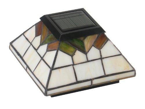 Classy Caps Wg322 Stained Glass Wellington Solar Post Cap 5&quot X 5&quot
