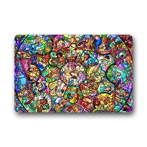 Sweetshow Custom Aladdin Story Stained Glass Pattern Indooroutdoor Doormat Door Mat Decor Rug Non Slip Mats 236