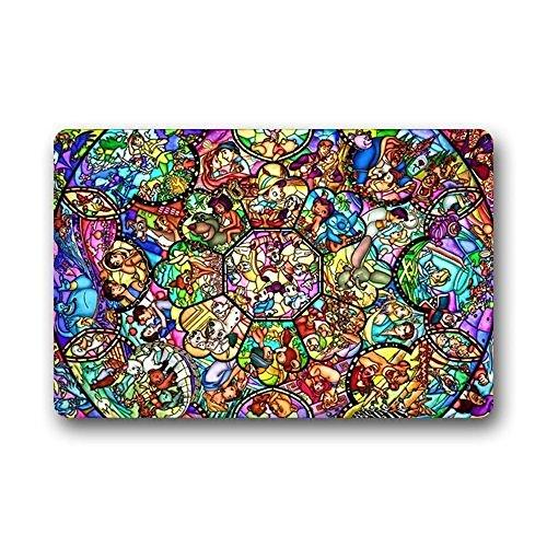 Wonderful Design Door Mats Aladdin Story Stained Glass Pattern Custom Outdoor  Indoor Doormat Personalized Design
