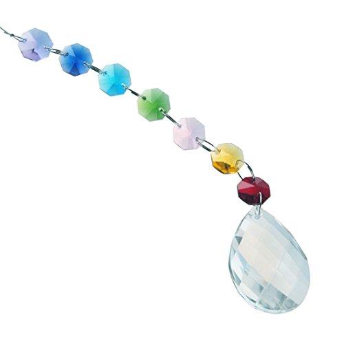 H&ampd Beautiful Hanging Crystal Chakra Suncatcher