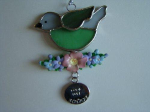 Good Luck Summer Bird Stained Glass Suncatcher Ornament EA1994