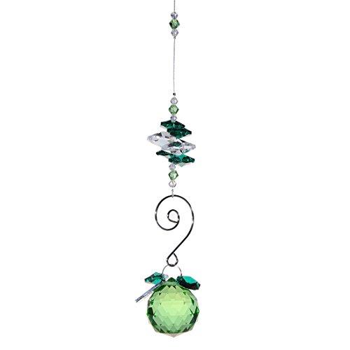 H&ampd 30mm Crystal Ball Chandelier Prism Ornaments Hanging Suncatcher green